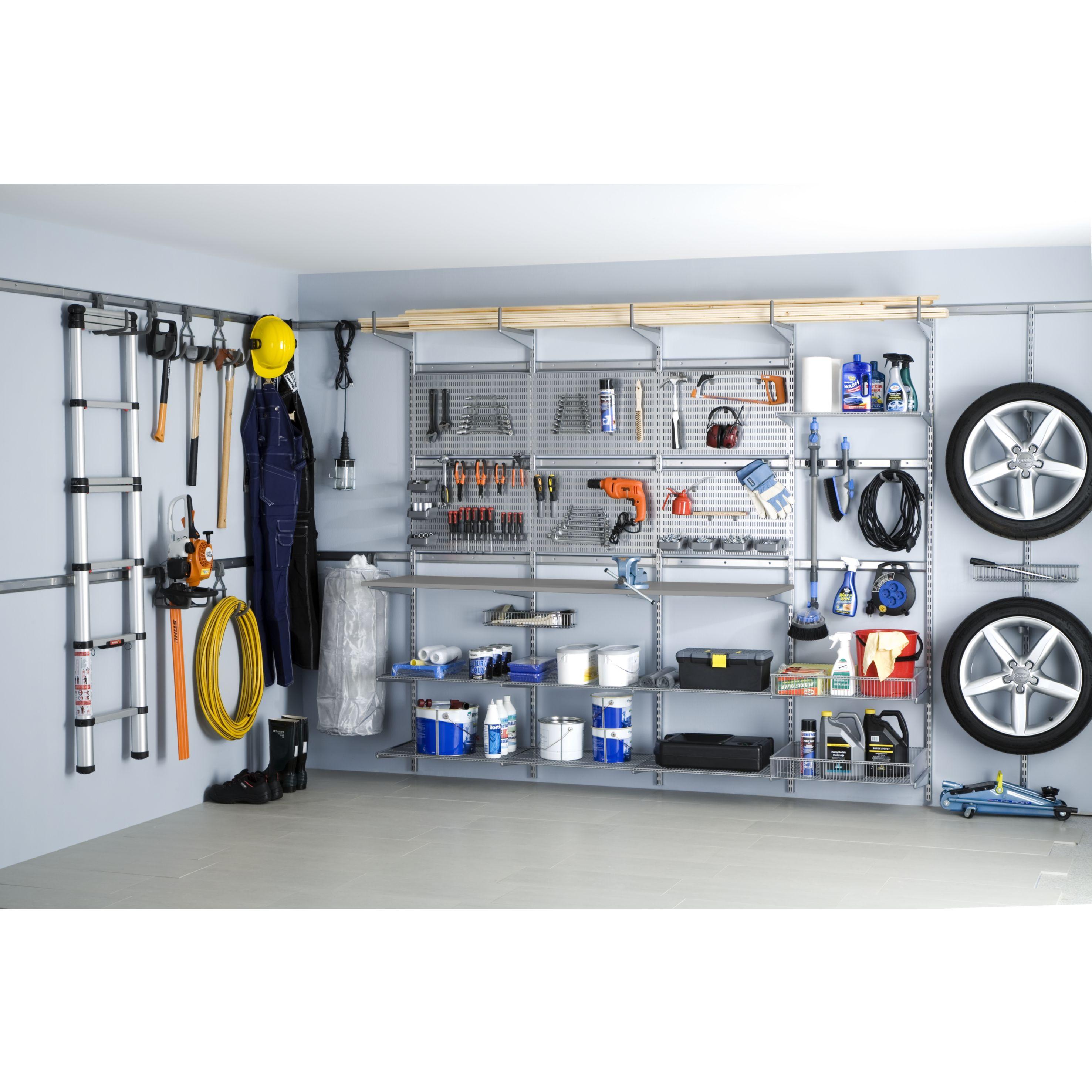 garage bien organisé avec elfa