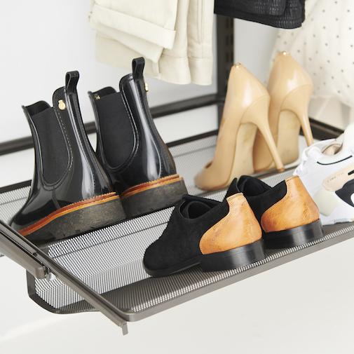 dressing pour entrée et rangement de chaussures elfa
