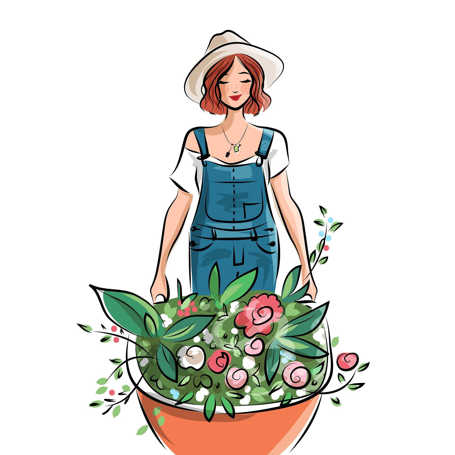 Brouette pour jardiner dans le jardin