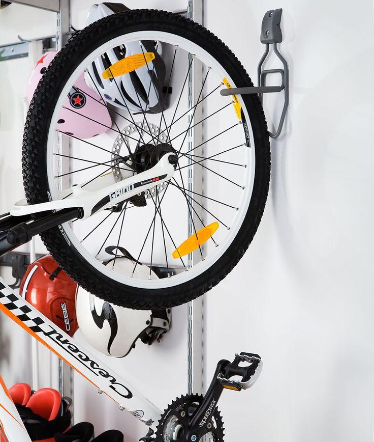 fixation murale avec crochet elfa pour vélo