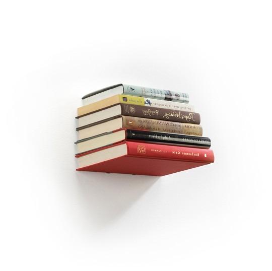 étagère invisible livres bibliothèque