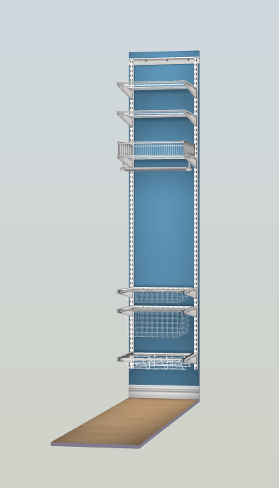 rangement elfa espace 50 cm