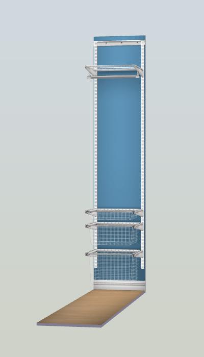 aménagement dressing elfa espace 50 cm