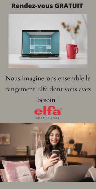 prendre un rendez vous gratuit de conception de rangement elfa