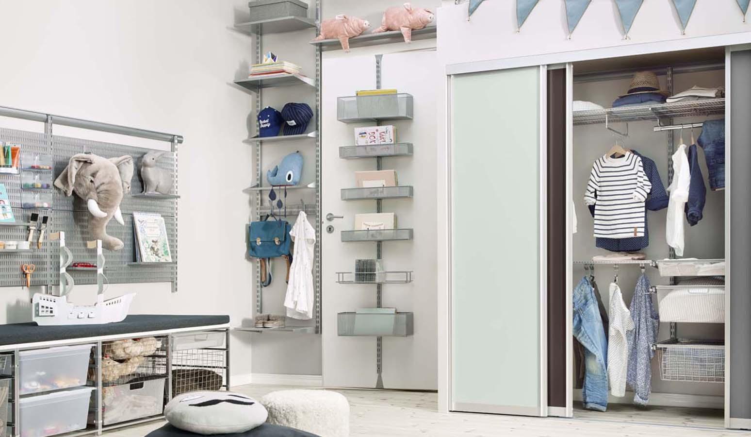 retrouvez l 39 offre de rangements elfa en livraison votre domicile. Black Bedroom Furniture Sets. Home Design Ideas